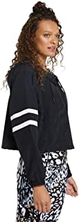 Rockwear Activewear Women's Ruch Hem Hooded Bomber Black 14 from Size 4-18 Jackets + Vests for Tops