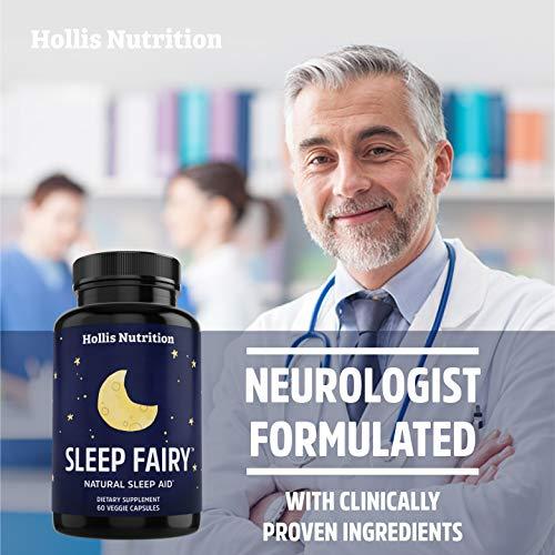 Sleep Fairy Natural Sleep Aid   Non-Habit Forming   Anxiety & Insomnia Relief Supplement   Herbal Sleeping Pills for Adults w/Valerian Root, GABA, L-Theanine, Magnesium, Melatonin   60 Vegan Caps