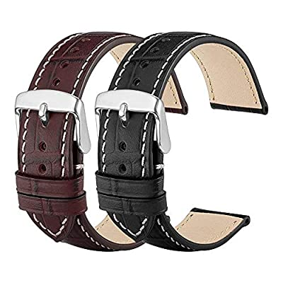SHENMATE Leather Watch Bands, Genuine Leather W...