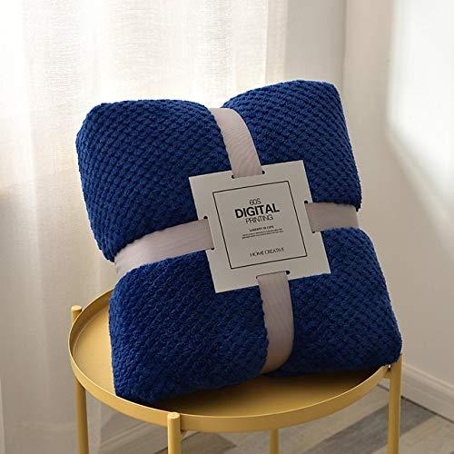 RR&LL Manta de forro polar de franela, suave, para viajes, camping, manta de color sólido, sábana de cama, hogar, oficina, sofá, toalla de regalo