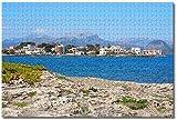 Puzzle- España Playa de Alcudia Mallorca Rompecabezas para Adultos Niños 1000 Piezas Juego de Rompecabezas de Madera para Regalos Decoración del hogar