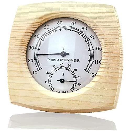 Termómetro Exterior Cubierta Multifuncional Sauna Accesorios Inductivo Del Puntero Inicio Dial Medidor De Humedad Higrómetro,Amarillo
