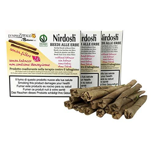 3 Paquetes de cigarrillos de hierbas Nirdosh sin filtro – Programa para dejar de fumar – remedio contra el humo – terapia 100% natural – paquetes de 20 cigarrillos cada uno – Dispositivo médico EU