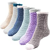 Netrox 6 | 3 Paar Kuschelsocken | Haussocken für Damen & Kinder | weiche kuschelige flauschige Wintersocken Weihnachtssocken Socken (Blau Türkis Grau)