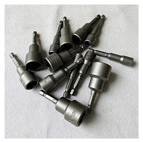 llave inglesa Toma de bits hexagonal con magnético, 7 mm a 19 mm, 65 mm de largo, zócalo de impacto del impacto de la llave de la llave de la llave de 65 mm para el taladro eléctrico / eléctrico Durab