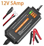 Trickle Charger for 12 Volt Batteries, KUFUNG 12V 5A Smart Automatic Battery...