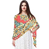 Flower-PatternScarfs para mujer, chal ligero, a la moda, bufandas con protector solar