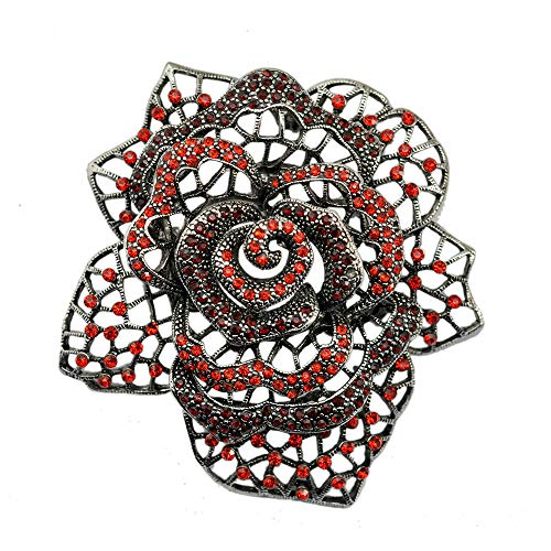 Nieuwe Rose Broche Crystal Coat Openwork Rose Broche Metalen Flash Boor Broche 67X67Mmbroches Broches