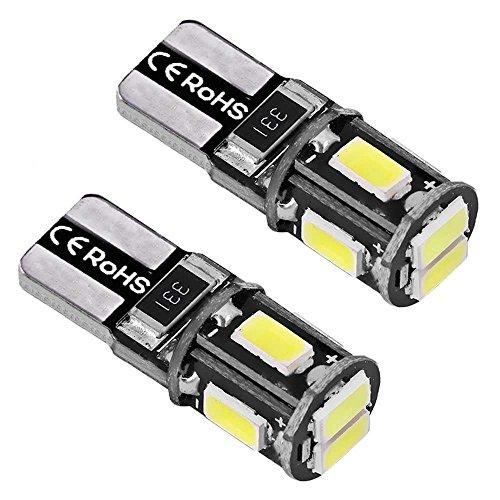 Ociodual 2 Lumière de Position LED Ampoules Veilleuses ODB T10 W5W 6000K Blanc Pur 6 SMD