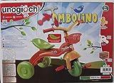 Unogiochi Triciclo Tombolino e Cestino per Bambini Bicicletta, 3 Ruote e Pedali Multicolor...