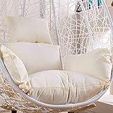 MO&SU Waterproof Cushion Cover Hanging Egg Hammock Chair Cushion Cover with Zipper Wear-Resistant Seat Cushion Change Cover-Cushion Cover-White