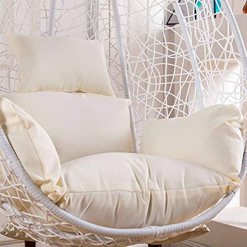 MO&SU Waterproof Cushion Cover Hanging Egg Hammock Chair Cushion Cover with Zipper Wear-Resistant Seat Cushion Change Cover-Cushion Cover-White