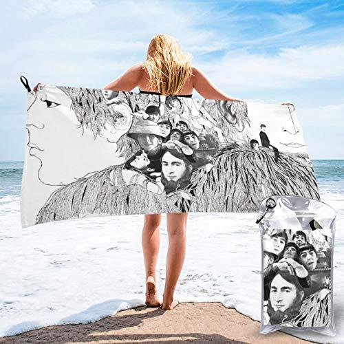 Moshow Strandtuch Quick Dry Super Absorbent Leichtes Handtuch für Schwimmen, Pool, Beach Beatles Revolver Album Cover Größe 80X16cm