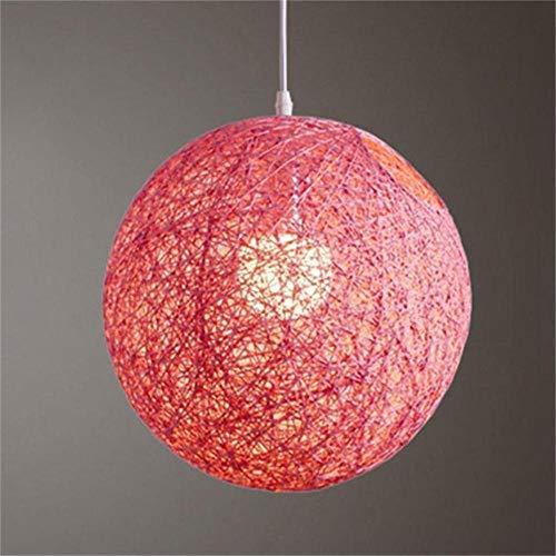 FICI Ronde lampenkap Handgeweven rotan Vine Ball Hanglamp Lampenkap Lampenkappen Licht Accessoires decoratie, Roze