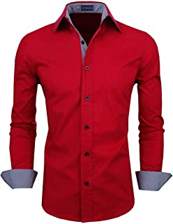 Zombom Men's Full Sleeve Cotton Casual Shirt