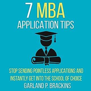 Seven MBA Application Tips audiobook cover art
