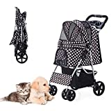 Best Pet Dog Strollers - HRKIM Pet Stroller, Cat Dog Stroller for Medium Review