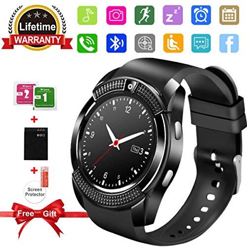 Smart Watch Bluetooth-Smartwatch mit Kamera, Touchscreens, Smart-Watches ohne SIM-Kartenslot, Sport-Armbanduhren für Android Samsung iOS