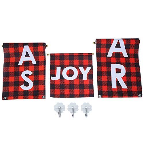 Leylor Pareado - 1 par de pancartas de pareado navideño, Accesorios Colgantes para la decoración del hogar de la Puerta Delantera Interior y Exterior