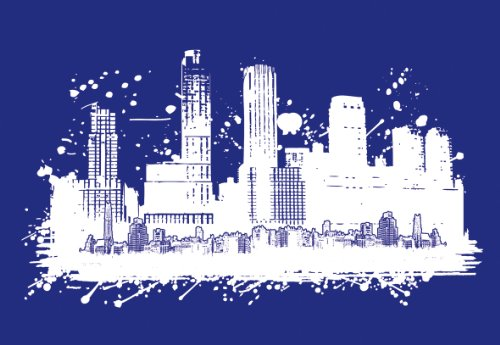 Rayher Schablone, Skyline, DIN A3, Gummi, Blau, 46.3 x 30.2 x 0.2 cm, 1 Einheiten