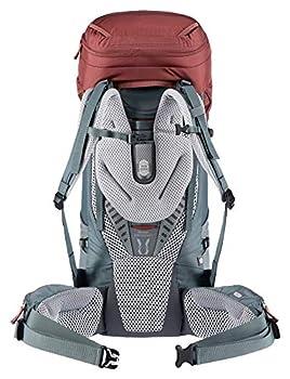 deuter Aircontact Sac à dos de trekking, Femme, Rouge (séquoia/Bleu canard/redwood-teal), 50L