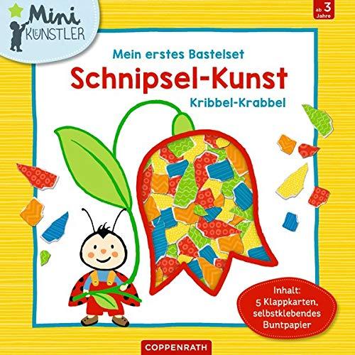 Mein erstes Bastelset: Schnipsel-Kunst Kribbel-Krabbel: Inhalt: 5 Klappkarten, selbstklebendes Buntpapier (Mini-Künstler)