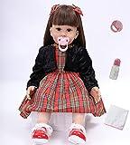 antboat 24 Pulgadas Muñecas Reborn Bebé Niña Realista Silicona Suave Vinilo Niños Juguete Reborn Baby Dolls Juguetes Bebes Reborn Niña Reborn 60cm