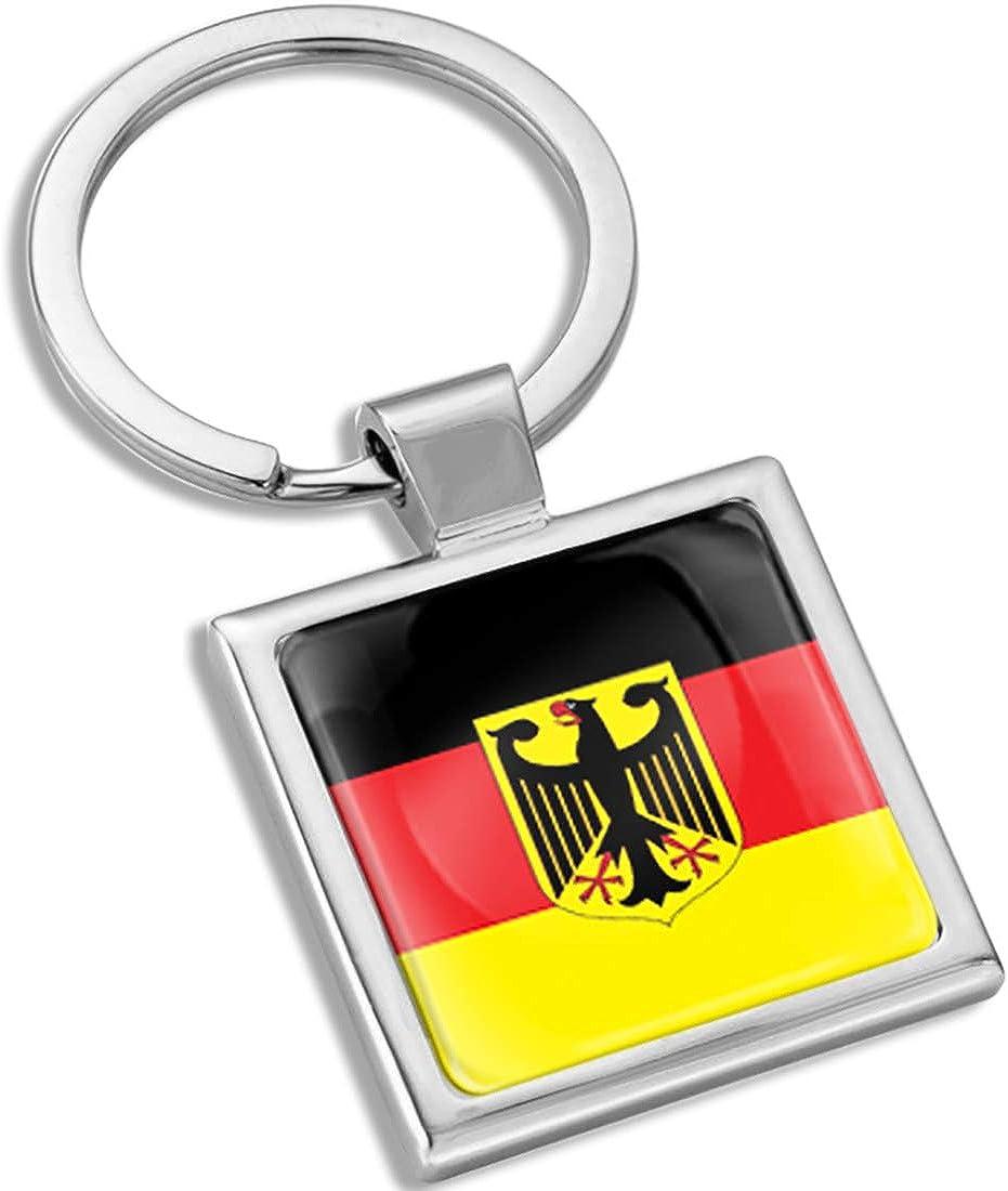 Biomar Labs 3D Metal Keyring Key Chain Gift Men Women Keychain Giftbox Germany German Eagle National Flag KK 282