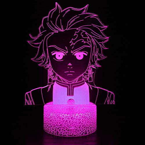 3D Illusion Birthday Gift Lamp Anime Characters 16 Colors Changing Touch Switch Decoration Night Light Remote Control Toy