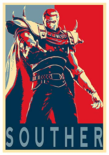 Instabuy Poster Propaganda - Hokuto no Ken - Souther - Formato A3 (42x30 cm)