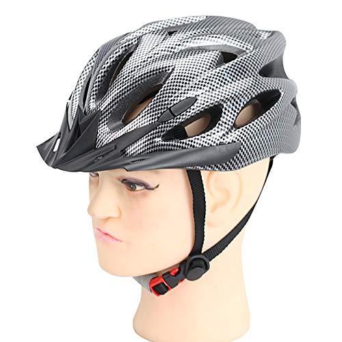 CUSROS Ultra-light Bike Helmet Cycling Helmet Cycle Helmet Mountain Road Helmet Skateboard Helmet, Sports Road Bicycle Mountain Bike MTB Racing Cycling 18 Hole Helmet Black & Silver One Size