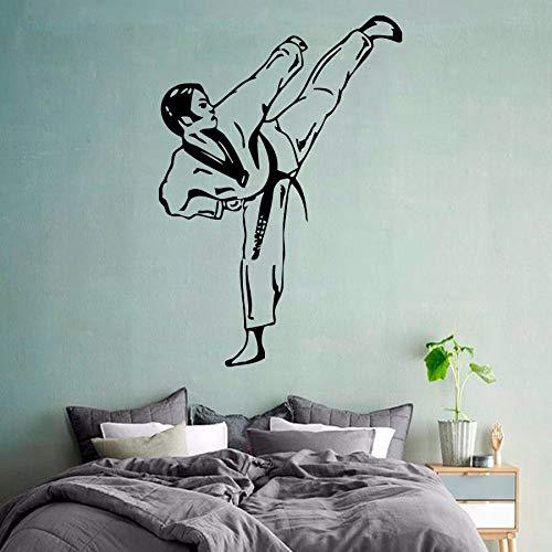 Calcomanía de pared de artes marciales Taekwondo Boy Fighte