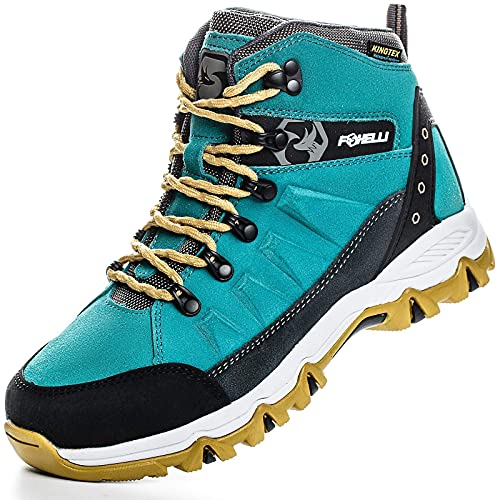 Foxelli Women's Hiking Boots – Waterproof Suede Leather Hiking Shoes for Women, Breathable,...