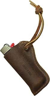Hide & Drink, Leather Lighter Sleeve, Everyday Use, Smoking Accessories, Handmade Includes 101 Year Warranty :: Bourbon Brown