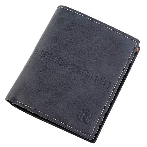LYsng Billeteras para Hombre Carteras Hombre Portamonedas Hombre Carteras para Hombre PequeñAs para Hombres Padre Esposo Otras Ocasiones Regalo Blue