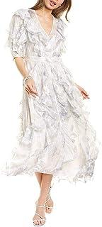 Rebecca Taylor Women's Long Sleeve Lily Ruffle Dress