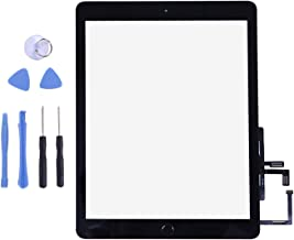 Touch Screen Digitizer for 2017 iPad 9.7 - Front Glass Replacement with Home Button & Tool Repair Kit (A1822, A1823) - Black