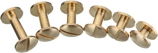 Massief Messing Arc Button Stud Schroef Nagel 4-15mm Schroef Back Lederen Belt Button Schroeven (Size : 10 * 4 * 4mm)