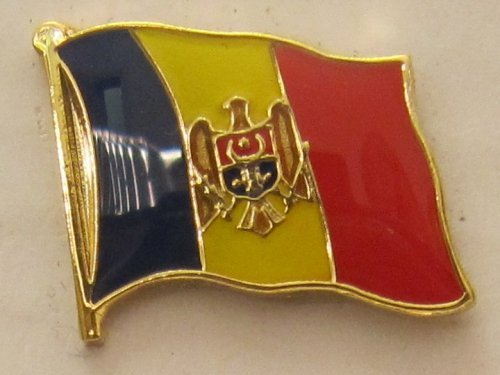 Buddel-Bini Versand Pin Anstecker Flagge Fahne Moldawien Nationalflagge Flaggenpin Badge Button Flaggen Clip Anstecknadel