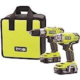 Ryobi P1832 18V One+ Handheld Drill/Driver and...