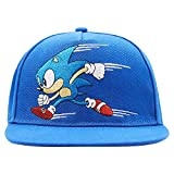 SEGA Sonic The Hedgehog Baseball Hat - Featuring Sonic, Tails, and Knuckles - Official Curved Brim, Adjustable Cap (Allover Royal)