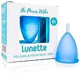 Lunette Copa menstrual reutilizable - Azul - Modelo 2 para flujo medio o abundante (EN versión)