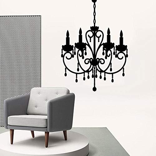Wwbqcl Patrón de moda azulejo adhesivo de pared vinilo papel pintado sala de estar lámpara decoración de pared calcomanía - 42x57cm