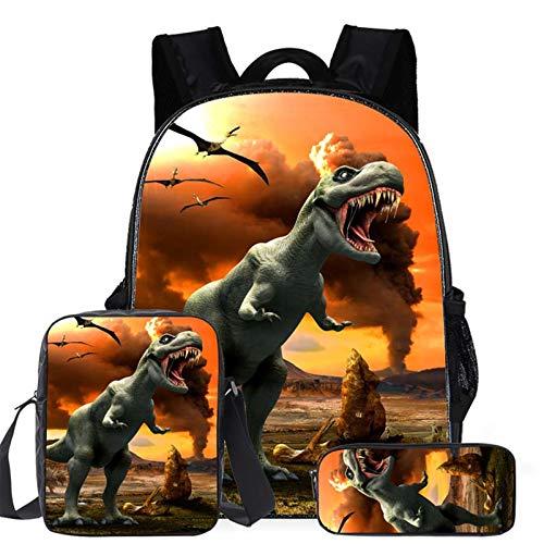 Amacigana Sac à Dos Dinosaure imprimé en 3D, pour Les Enfants (dinosaure3)