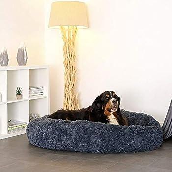 Puppy Love Panier Chien, Coussin Chien Anti Stress XXXL Dehoussable,Paniers Et Mobilier pour Chiens, Lit Moelleux Rond pour Chien, Lavable, Confortable#1-100cm
