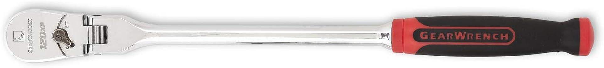"GEARWRENCH 3/8"" 120XP Dual Material Flex Head Teardrop Ratchet 13-1/2"" – 81210P"