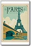 Vintage Paris, France Vintage Travel Fridge Magnet - Calamita da frigo