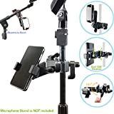 AccessoryBasics Music Boom Mic Microphone Stand Smartphone Mount w/360° Swivel Adjust Holder for Apple iPhone 11 Pro XR XS MAX X 8 Plus Samsung Galaxy S9 S10 Note Google Pixel XL phones
