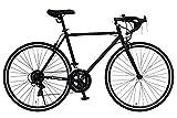 ANIMATO(アニマート) ロードバイク DEUCE (デュース) 700C マットブラック シマノ14段変速 A-14