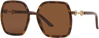 Gucci GG 0890S 002 Havana Plastic Oversized Sunglasses Brown Lens